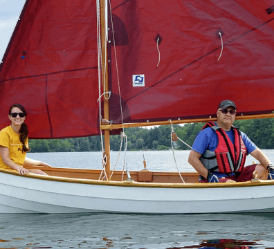 Father daughter sailing in the Berkshires